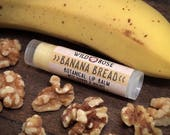 Lip Balm Natural BANANA BREAD Organic Banana + Walnut .15 oz Baking stocking stuffer