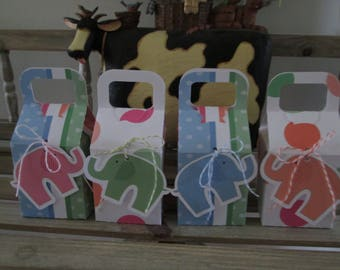 Elephant Favor Boxes Set of 28 with Free Shipping