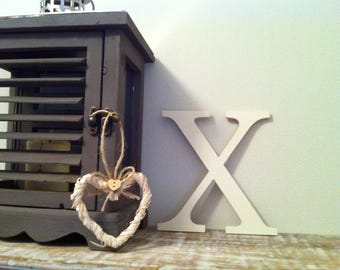 Giant Wooden Letter - X - Times Roman Font, 50cm high, 20 inch, any colour, wall letter, wall decor - various colours & finishes