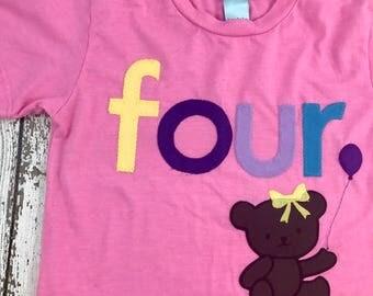 teddy bear party, teddy bear shirt, girl's birthday shirt, teddy bear theme, bear shirt, custom birthday shirt, teddy bear decor