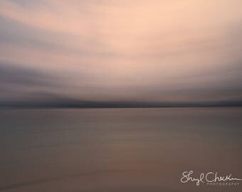 Pink Bali Sunset Note Card | impressionist photograph | Greeting Card | Card for beach lover | Beach House | Thank You