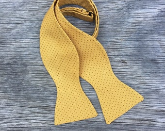 mustard yellow bowtie, gold bow tie for men, gold bowtie, mustard bow tie kid, mustard bow ties for toddlers, mens self tie bowties