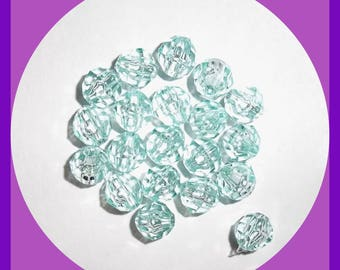 Crystallized Swarovski Elements Faceted Beads 8 mm Bicone AQUA