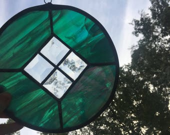 Stained Glass Sun Catcher / Window Hanger