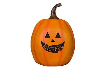 Jack-O-Lantern Personalized Pumpkin Decoration, halloween decor, halloween decoration, fall, engraved -gfyL11869211P