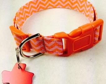 Orange Fluff Dog Collar - Adjustable