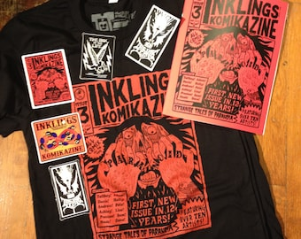 EXCLUSIVE INKLINGS tee shirt and comic zine pack!