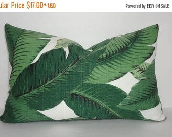 FALL is COMING SALE Outdoor/Indoor Palm Tree Pillow Cover Tommy Bahama Swaying Palms Lumbar Pillow Cover Deck Porch  12x18 12x20