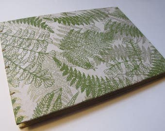 Large Green and Gold Greenery Leaf Fern Wedding Guest Book Instax Polaroid Photo Album