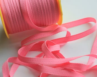 """3/8"""" Polyester Twill Tape - Pink - 5 yards"""