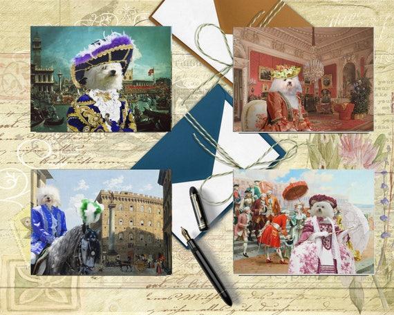 Bolognese Art, Bolognese Dog, Bolognese Postcard Set, Bolognese Greeting Card Set, Bolognese Sticker, Bolognese Decal, Bolognese Portrait
