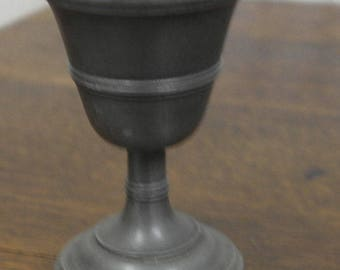 antique pewter golblet wine glass