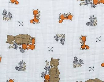 Sand Critter Romp Double Gauze, #EMCRITTERSAN,Shannon Fabrics Inc., Embrace Sweet Melody Collection-One Yard Cut