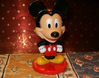 "Mickey Mouse, Disney, Made for Kellogg Company, 3""H, Nodder, Head Spins"
