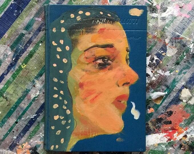 Emilia Galotti / book art object / art object / original art / art gift / literary gift / gift for a book lover / vintage book