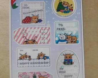 Christmas Tags Sticker Sheet