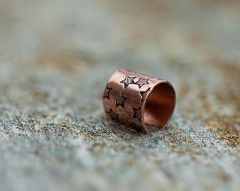 Copper ear cuff // Tiny stars // Non-pierced // Made to order