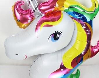 Unicorn Balloon CLEARANCE Unicorn Party Favor Unicorn Decorations Unicorn Large Balloon Decoration Rainbow Party Unicorns Unicorn Favors