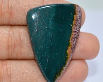 Top Quality !!! 100%Natural Green Jasper, Green Jasper Cabochon 28x40x5mm, Jewelry Making Pendant Cabochon,