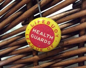 Lifebuoy League of health guards 1940s lapel pin buyer premium