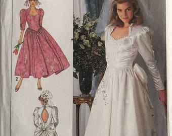 Simplicity 9505, Size 8-10-12-14, Misses'/Miss Petite Brides' and Bridesmaids' Dress Pattern, UNCUT, Wedding, Prom, Jessica McClintock
