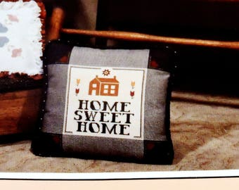 Home Sweet Home Cross Stitch Kit, Vintage 1983  Homestead Products Needle Art Project, DIY Hand Needlework Kit itsyourcountry