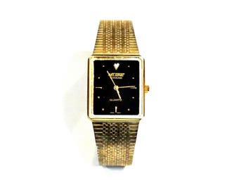 Vintage Nelsonic Ladies Wrist Watch, Gold Metal Band, No Crystal, Watch Repair, Watch Parts, Art Craft Supply itsyourcountry
