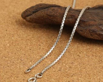 925 Sterling Silver Chain,1.5mm snake bone style silver necklace sterling silver necklace