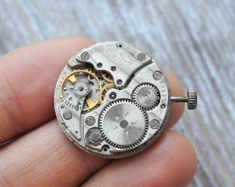 RAKETA Vintage Soviet Russian wrist watch movement.