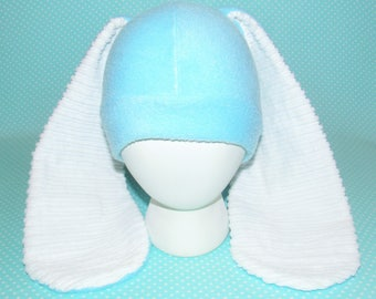 NEW Extra Long Eared Cotton Candy Blue Bunny Hat