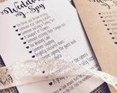 x10 Ispy Wedding Game Cards