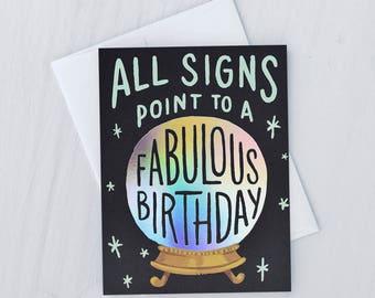Birthday Fortune Greeting Card