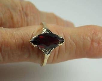 Ruby Diamond Ring 2.48Ctw Yellow Gold 14K 3.8gm Size 7.5