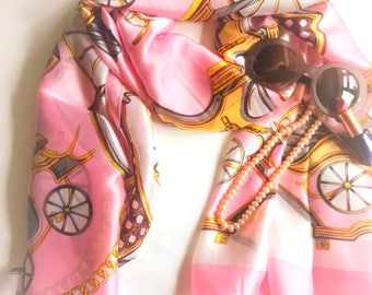 Belts and Links Bewitching Pink and Brown Scarf