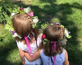 Affordable Woodland Fairy Head Wreaths for Birthday Favors