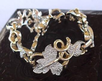 Vintage Sarah Cov Bracelet. Sarah Conventry Leaves and Vine Estate Jewelry.