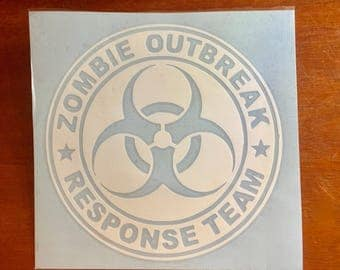 ZOMBIE Outbreak Response Team Decal for your car window, laptop, yeti, etc.