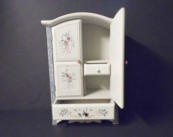 Vintage Shabby Chic Jewelry Cabinet