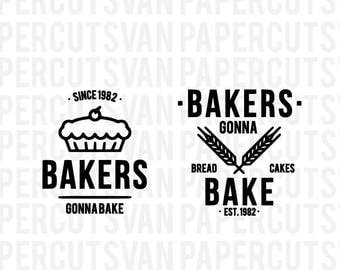 Bakers Gonna Bake  // Silhouette - Cameo - Cricut //  Clip Art, SVGs , Instant Download