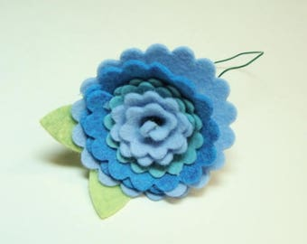 Scallop Edge Three Color Flower Kit DIY- Makes 1 Flower- No Sew