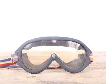 Vintage Motorcycle Glasses / Old Motorcycle Glasses / Motorcycle Decor / Racing Glasses / Vintage Goggles / Garage Decor