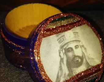 Jah Rastafari King Selassie 420 box - Rastafari Selassie I Ring Box