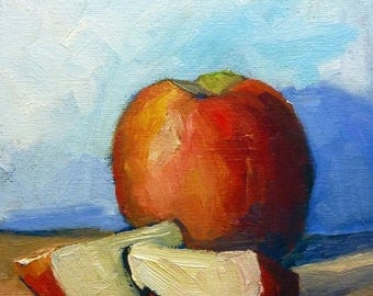 Apple Still Life Oil Painting on Canvas