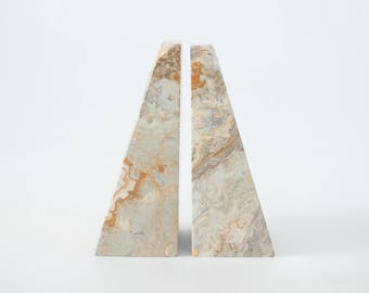 Vintage Marble Bookends