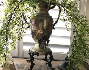 Vintage Victorian Samovar Silverplate Coffee - Beverage - Hot Water Urn
