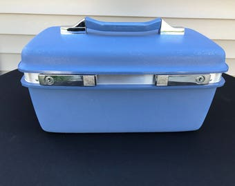Vintage Blue Samsonite Montbello Train Case
