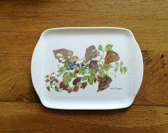 Small Tray, Autumn Print - Afternoon Tea - 15cm x 20cm (8 x 6 inches)