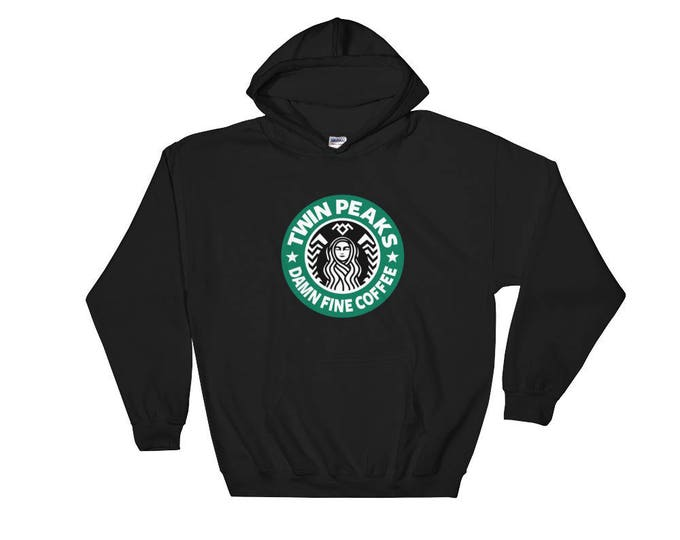 Twin Peaks, Damn Fine Coffee Hooded Sweatshirt - Starbucks Coffee Hooded Pullover