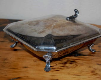 Vintage F. B. Rogers Silver Co. Silent Butler Vintage Silver Plated 1883 Silent Butler 386 Crumb Tray from The Eclectic Interior
