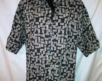 "BIG SUMMER SALE 90s Vintage-Big Men Man-Aloha Hawaii Shirt-Burma Bibas--54"" Chest-2Xl-2X-Luau Resort Cruise Beach Casual"